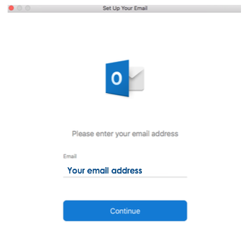 Third step of how to set up your email in Outlook